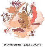 abstract colorful paint brush... | Shutterstock .eps vector #1266369346