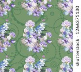 seamless floral pattern with... | Shutterstock .eps vector #1266375130