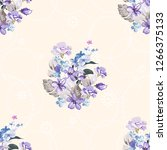 seamless floral pattern with... | Shutterstock .eps vector #1266375133