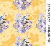 seamless floral pattern with... | Shutterstock .eps vector #1266375136