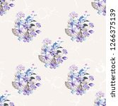 seamless floral pattern with... | Shutterstock .eps vector #1266375139