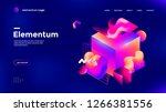 colorful 3d geometric... | Shutterstock .eps vector #1266381556