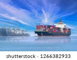 ship sailing in the sea... | Shutterstock . vector #1266382933