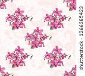 seamless floral pattern with... | Shutterstock .eps vector #1266385423