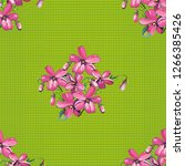 seamless floral pattern with... | Shutterstock .eps vector #1266385426