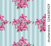 seamless floral pattern with... | Shutterstock .eps vector #1266385429