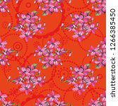 seamless floral pattern with... | Shutterstock .eps vector #1266385450