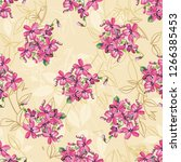 seamless floral pattern with... | Shutterstock .eps vector #1266385453