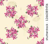 seamless floral pattern with... | Shutterstock .eps vector #1266385456