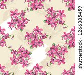 seamless floral pattern with... | Shutterstock .eps vector #1266385459