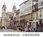 santiago de compostela  galicia ... | Shutterstock . vector #1266402040