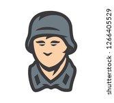 german soldier sign | Shutterstock .eps vector #1266405529