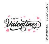 happy valentines day typography ... | Shutterstock .eps vector #1266406279
