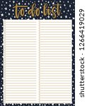 cute a4 template for to do list ... | Shutterstock .eps vector #1266419029