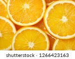 sliced orange. background... | Shutterstock . vector #1266423163