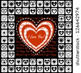 valentine's day greeting card... | Shutterstock . vector #126642974