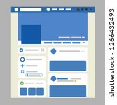 the interface of facebook. web...