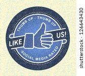 like us icon  illustration icon ... | Shutterstock .eps vector #126643430