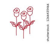 Three Roses Thin Line Red Icon...