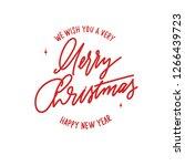 merry christmas     hand... | Shutterstock .eps vector #1266439723