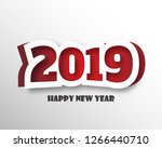 happy new year 2019. greetings... | Shutterstock .eps vector #1266440710