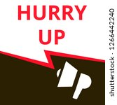 word writing text hurry up....   Shutterstock .eps vector #1266442240