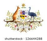 vector coat of arms of australia | Shutterstock .eps vector #126644288