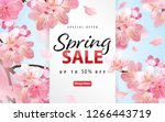 enjoy spring sale with blooming ... | Shutterstock .eps vector #1266443719
