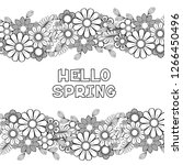 hello spring coloring page with ... | Shutterstock .eps vector #1266450496
