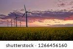 wind turbine fields in denmark | Shutterstock . vector #1266456160