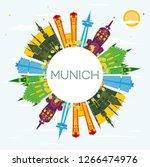 munich germany city skyline... | Shutterstock . vector #1266474976