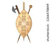 zulu shield  ethnic african... | Shutterstock .eps vector #1266478849