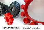 rubber molds for machines used... | Shutterstock . vector #1266483163