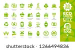 eco green city color glyph icon ... | Shutterstock .eps vector #1266494836