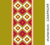 seamless pattern turkish carpet ... | Shutterstock . vector #1266496249