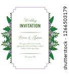 invitation card for wedding... | Shutterstock .eps vector #1266503179