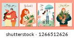 collection of romantic cards.... | Shutterstock .eps vector #1266512626