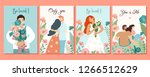 collection of romantic cards.... | Shutterstock .eps vector #1266512629