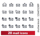 email icons  vector set of... | Shutterstock .eps vector #126651389