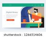 concept digital and online... | Shutterstock .eps vector #1266514606