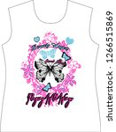 slogan print for t shirt... | Shutterstock .eps vector #1266515869