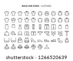 Stock vector clothing bold line icons the illustrations are a vector editable stroke x pixel perfect 1266520639