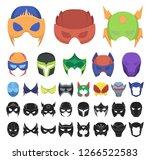 carnival mask cartoon  black...   Shutterstock .eps vector #1266522583