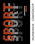 slogan print for t shirt... | Shutterstock .eps vector #1266526219