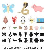 an unrealistic cartoon  black...   Shutterstock .eps vector #1266526543