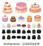 cake and dessert cartoon  black ...   Shutterstock .eps vector #1266526639