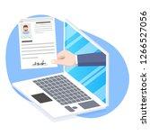 human resources  online job... | Shutterstock .eps vector #1266527056