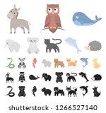 an unrealistic animal cartoon ...   Shutterstock .eps vector #1266527140