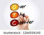 otc   over the counter  acronym ... | Shutterstock . vector #1266536143