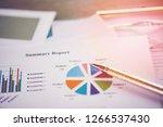 business report chart preparing ... | Shutterstock . vector #1266537430